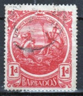 Barbados 1916 George V Single One Penny Stamp From The Definitive Set. - Barbados (...-1966)