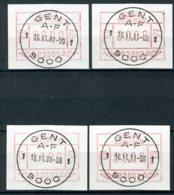 (B) ATM3 FDC 1981 - Set 6-9-14-59 - Postage Labels