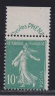 FRANCE -  N°188. 10 Ct Vert PHENA. Neuf.  TB  Cote 65€. - France