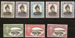 Brunei 1952 Yvertn° 90-97 (*) MLH Cote 42,50 Euro N° 84-89 Gratuit - Brunei (...-1984)