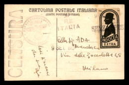 ITALIE - OBLITERATION CENSURE ALLEMANDE DU 9 SEPTEMBRE 1943 - Italia