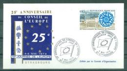 EUROPA - 04-05-74 STRASBOURG PJ 25ème Anniversaire Du Conseil De L'Europe (Pas Voyagée) - 1974