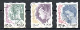 ITALIE. N°2562-4 De 2002 Oblitérés. La Femme Dans L'art. - 6. 1946-.. Repubblica