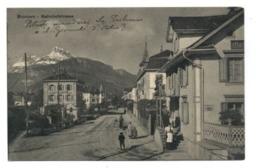 C2166 SWITZERLAND SCHWYZ  INGENBOHL - BRUNNEN - BAHNHOFSTRASSE CIRCULATED 1910 PUBLISHER F. BEELER BRUNNEN - SZ Schwyz