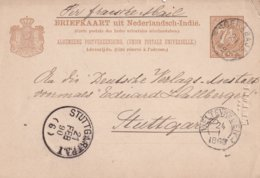 INDES NEERLANDAISE 1890      ENTIER POSTAL/GANZSACHE/POSTAL STATIONERY CARTE DE SOERABAJA - Netherlands Indies