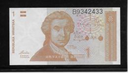 Croatie - 1 Dinar - Pick N°16 - NEUF - Croatia