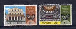 MAURITIUS - 1972 - 150° Anniversario Del Teatro Di Port Luis - 2 Valori - Nuovi - Linguellati * - (FDC17093) - Mauritius (1968-...)