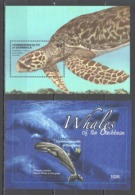 T1071 2010 DOMINICA FAUNA FISH & MARINE LIFE WHALES OF THE CARIBBEAN HAWKSBILL TURTLE 2BL MNH - Marine Life