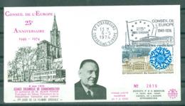 EUROPA - 06-05-74 STRASBOURG Séance De Commémoration Du 25ème Ann.du Conseil (Pas Voyagée) - Europa-CEPT