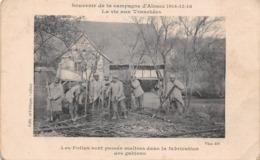 (90) Belfort - Poilus Dans La Fabrication Des Gabions - Souvenir De La Campagne D'Alsace 1914 - 16 La Vie Aux Tranchées - France