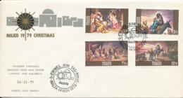 Malta FDC 14-11-1979 Christmas Complete With Cachet - Christmas