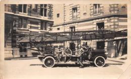 ¤¤  -   Cliché D'un Camion De Sapeur-Pompier  -  La Grande Echelle  -  Voir Description   -  ¤¤ - Firemen