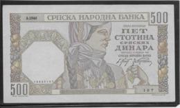 Serbie - 500 Dinara - Pick N°27b - SPL - Servië