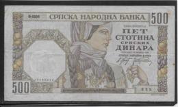 Serbie - 500 Dinara - Pick N°27a - TB - Servië