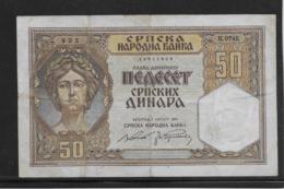 Serbie - 50 Dinara - Pick N°26 - TB - Serbien