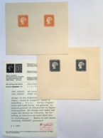 Mauritius 1847 1d-2d POST OFFICE Two RARE 1912 Reprints, Hunziker Certificate(Blue Blaue Mauritius Ile Maurice Yvert 1-2 - Maurice (...-1967)