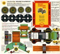 ROCHET SCHNEIDER 1895  COLLECTION SCHELL BERRE   BOLIDES D AUTREFOIS   MAQUETTE EN CARTON  EDITION ANNEE 50 - Kartonnen Modellen / Lasercut