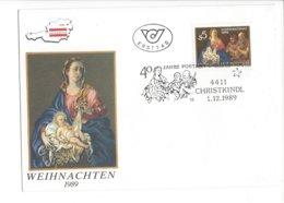 22385 - Christkindl 01.12.1989 Weihnachten 40 Jahre Postamt Christkindl - Noël