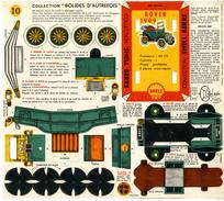 ROVER 1909  COLLECTION SCHELL BERRE   BOLIDES D AUTREFOIS   MAQUETTE EN CARTON  EDITION ANNEE 50 - Paper Models / Lasercut