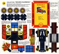 RENAULT 1912   COLLECTION SCHELL BERRE   BOLIDES D AUTREFOIS   MAQUETTE EN CARTON  EDITION ANNEE 50 - Carton / Lasercut