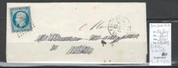 France - Yvert 10 - Présidence 25 Centimes - PC 3474 La Valette - Charente - 1854 - Postmark Collection (Covers)