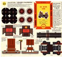 DE DION 1898 COLLECTION SCHELL BERRE   BOLIDES D AUTREFOIS   MAQUETTE EN CARTON  EDITION ANNEE 50 - Carton / Lasercut