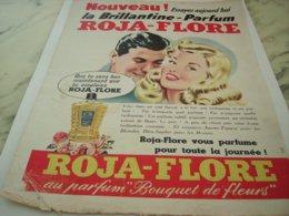 ANCIENNE  PUBLICITE CHEVEUX BRILLANTINE ROJA  FLORE 1953 - Perfume & Beauty