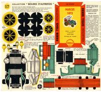 MARCUS 1873   COLLECTION SCHELL BERRE   BOLIDES D AUTREFOIS   MAQUETTE EN CARTON  EDITION ANNEE 50 - Kartonnen Modellen / Lasercut