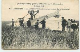 REIMS 1910 - Reims 1910 - René Labouchère Et Son Antoinette - Accident Du 7 Juillet - Accidents