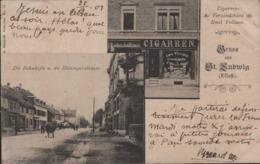 SAINT LOUIS / Hüningerstrasse, Gruss Aus Saint-Ludwig / Cigarren Versandthaus Emil Vollmer - Saint Louis