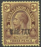 Turks & Caicos Islands. 1917 War Tax. 3d MH. SG 141 - Turks And Caicos