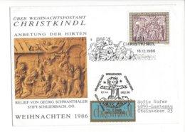 22388 - Christkindl 16.12.1986 Relief Georg Schwanthaler Pour Lustenau - Weihnachten