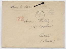 1871 - GUERRE 1870 - LETTRE De L'ARMEE De L'EST à SALINS (JURA) => PONTARLIER (DOUBS) - Marcofilia (sobres)