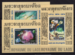 LAOS 1974 UPU 3 Val Mi Block 58 59 & 60 MNH ** - Laos