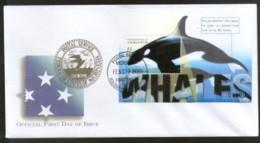 Micronesia 2001 Whales Fishes Marine Life Animals Sc 418 M/s FDC # 16616 - Marine Life