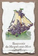 CPA BELGIQUE - SOUVENIR De HEYST-SUR-MER - SUPERBE CP Fantaisie Avec AJOUTIS Fleurs Et Bâteau + TB Verso - Autres