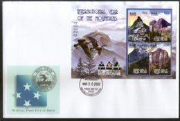 Micronesia 2002 International Year Of Mountain Birds Sc 492  Sheetlet FDC # 19123 - Geologia