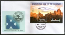 Micronesia 2002 International Year Of Mountain Sc 493 M/s FDC # 16868 - Geology