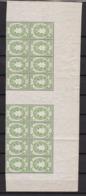 Bayern - 1876 - Telegrafenmarken - Michel Nr. 20 - Bogenteil Mit Zwei Zwischenstegen - Postfrisch - Bayern