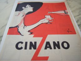 ANCIENNE AFFICHE PUBLICITE CINZANO  1953 - Posters