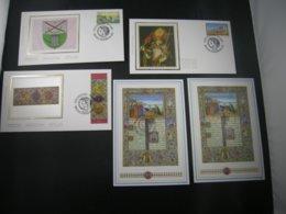 "BELG.1993 2491 2492 & 2493 FDC's Soie/zijde & 2x BL68 MNH With Gomme & 1°jour/dag : "" Geschiedenis / Histoire "" - FDC"
