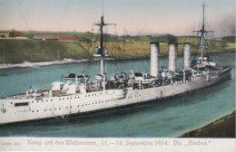CARTE ALLEMANDE - GUERRE 14-18 - DIE EMDEN - SEPTEMBER 1914 - War 1914-18