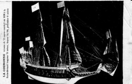 LA COURONNE ,VAISSEAU DE 72 CANONS CONSTRUIT EN 1638 A LA ROCHE BERNARD   REF 61042 - Guerre
