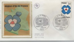 France - FDC 1er Jour - 4 Mars 1978 - ILE DE FRANCE - 1970-1979