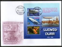 Micronesia 2007 Ludwig Dürr Zeppelin Air Ship Aviation Sc 725 M/s FDC # 9366 - Zeppelins