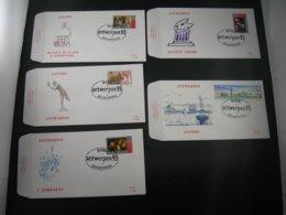 "BELG.1993 2495 2496 2497 2498 & 2499 FDC's   : ""Antwerpen Culturele Hoofdstad/ Capitale Culturelle D'Anvers"" - FDC"