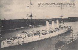 CARTE ALLEMANDE - GUERRE 14-18 - S.M.S. KREUZER EMDEN NOVEMBER 1914 - War 1914-18