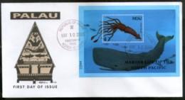 Palau 2000 Squid Fishes Marine Life Animals Sc 566 M/s FDC # 16858 - Marine Life