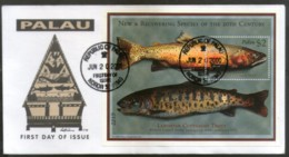 Palau 2000 Trout Fishes Marine Life Animals Sc 573 M/s FDC # 16859 - Marine Life