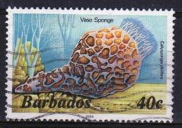 Barbados Single 40c Stamp From The 1985 Marine Life Series. - Barbados (1966-...)